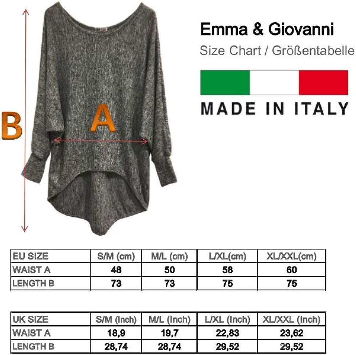 Basic Langarmshirt - Damen Pullover Emma /& Giovanni Made In Italy