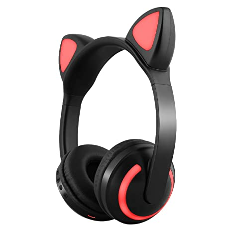 Amazon In Buy Leoie Cute Animal Ear Design Flashing Glowing Gaming Cat Bluetooth Wireless Stereo Headphones Online At Low Prices In India Leoie Reviews Ratings