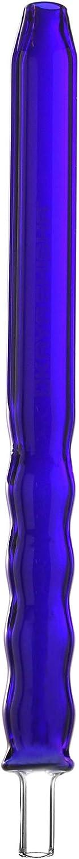 Bamboo glassmouthpiece Blue, Snorkel de repuesto (Azul con un diseño de onda para le Shisha, longitud aprox. 30cm