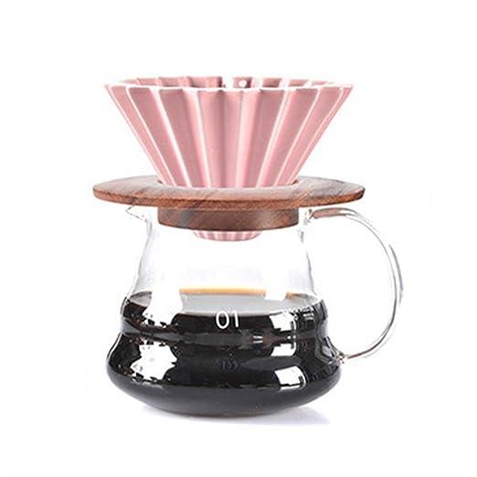 COKFEB Filtro de café Motor de Goteo de café de cerámica V60 Style ...