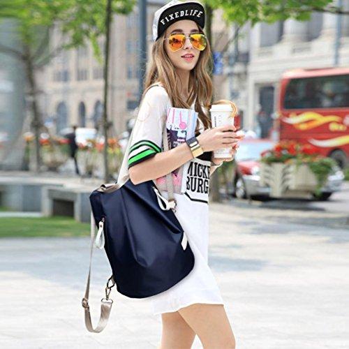 señoras Las 3pcs moda de las Azul y mochila Clode® bandolera bolso impermeable Set bolso mujeres de bolso 7Rxqwd