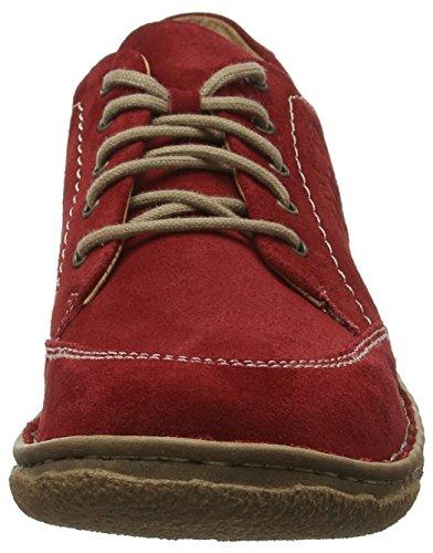02 Zapatos 400 Cordones rot De Derby Mujer Para Josef Seibel Rojo Neele tfEw1WqB