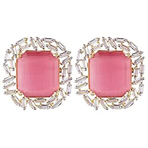 Aurora Women's Alloy Ruby Earring