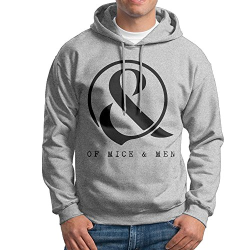 MARC Men's OF MICE & MEN Sweatshirt Ash Size XL ()