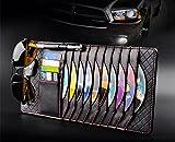 TO Design Auto Luxury Leather Auto Car Sun Visor Shade Organizer black CD/DVD Sports Fashion Travel Holder Bag Cards Wallet Pocket Pen Glasses Clip Cover Storage