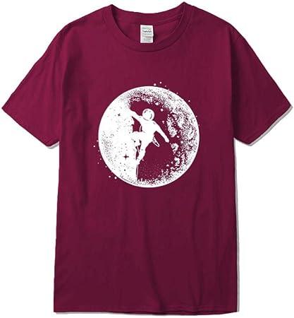 SGJKG Camiseta de Manga Corta Verano Casual Hombre algodón ...