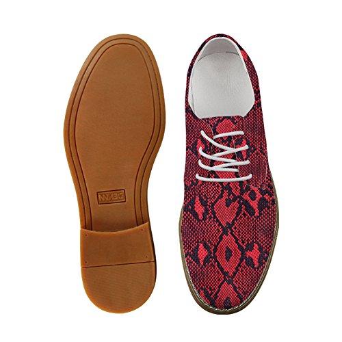 Abrazos Idea Modelo Serpentina Hombre Moda Oxford Vestido Zapatos Serpiente Imprimir 1