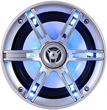 Design Coassiale A 3 Vie, 2x 400 Watt max, 800 Watt Complessivi, Cover Altoparlanti Con Led Auna CS-LED65 Coppia Altoparlanti Per Auto