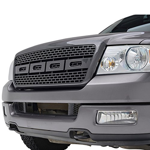 2004 F150 Grill (E-Autogrilles ABS Replacement Grille Grill with Shell for 04-08 Ford F-150 - Carbon Fiber Look)
