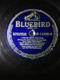 Rare 1941 Chattanooga Choo-Choo b/w I Know Why : Glenn Miller Tex Benake Mack Gordon Paula Kelly Four Modernaires Sun Valley Seranade 78 RPM Shellac Bluebird 11230 : Comes with a CD Transfer
