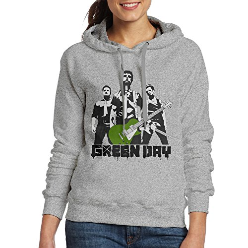 Captain America New Suit (Bekey Women's Green Day Band Hoodie Jacket S Ash)