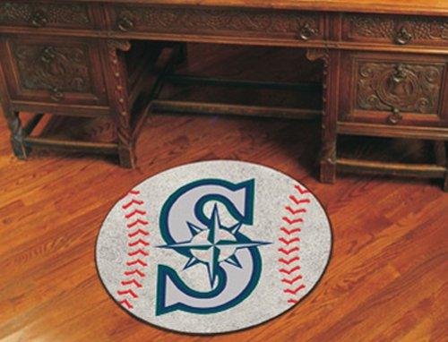 [Fanmats Sports Team Logo MLB - Seattle Mariners Baseball Mat] (Seattle Mariners Baseball Rug)