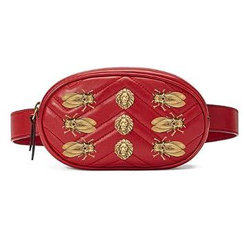 5cfaf5b6418d HAOLIEQUAN Sac De Taille Femmes Rivets Taille Sacs Fanny Pack Luxe Mode Cuir  Velours Ceinture De