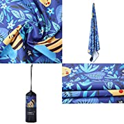 CHARS Microfiber Quick Drying Beach Towel with a Carrying Bag, Super Absorbent Towel, Sand Free Towel, for Kids, Teens…