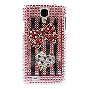 DUR Rhinestone Decorated Heart and Bowknot Pattern Hard Case for Samsung Galaxy S4 I9500