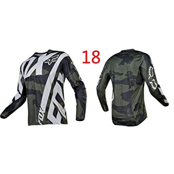 HFJLL Mountain Bike Motocross Jersey Camiseta de Manga Larga ...