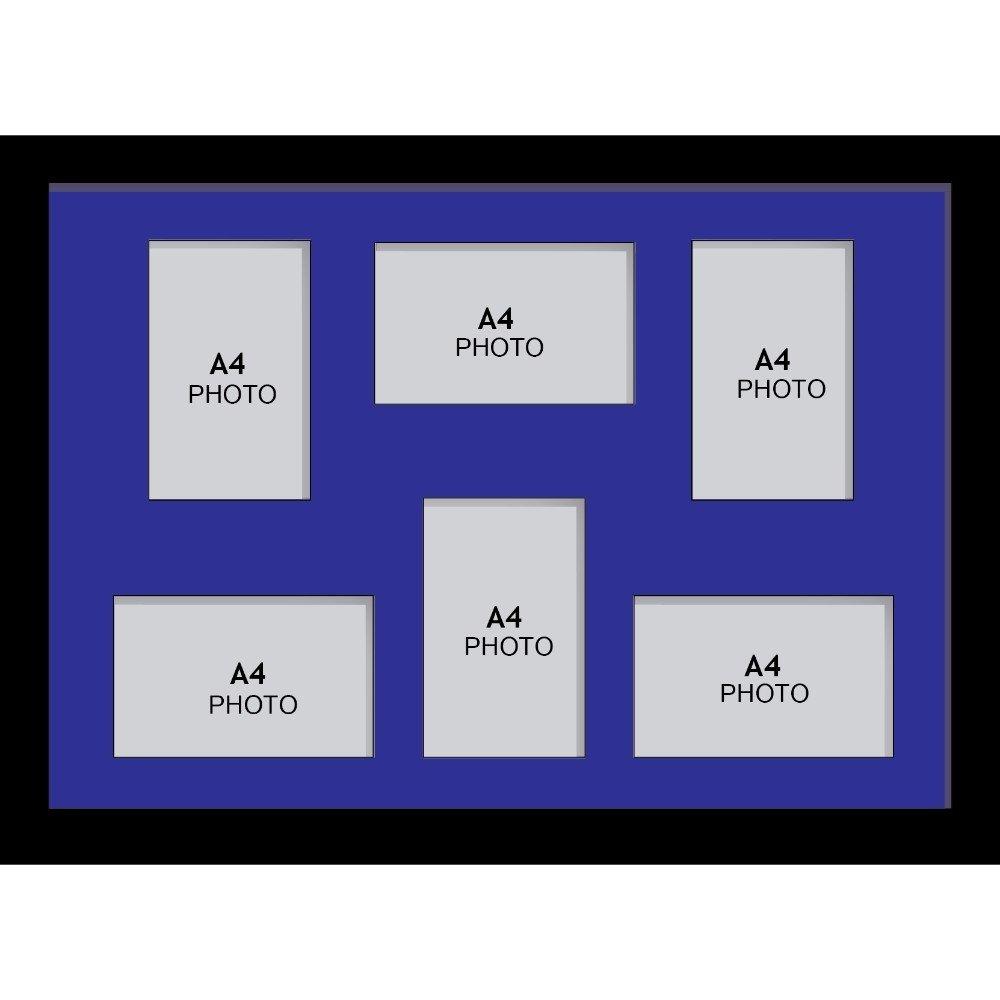 Amazon.de: Große Multi Bilderrahmen Blende Rahmen, Größe A4 mit 6 ...