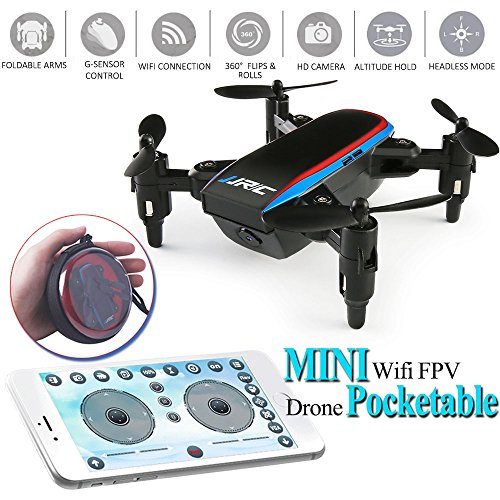 JJRC H53W Shadow Foldable Mini Drone Quadcopter WiFi FPV 480P HD Camera APP Control G-Sensor Quadcopter Drone Pocket RC Selfie Drone One Key Return Headless Altitude Hold Mode