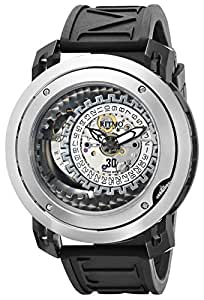 Ritmo Mundo Men's 202 SS BLK Persepolis Dual-Time Exhibition Automatic Watch