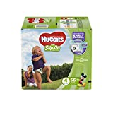 HUGGIES Little Movers Slip On Diaper Pants, Size 6, White