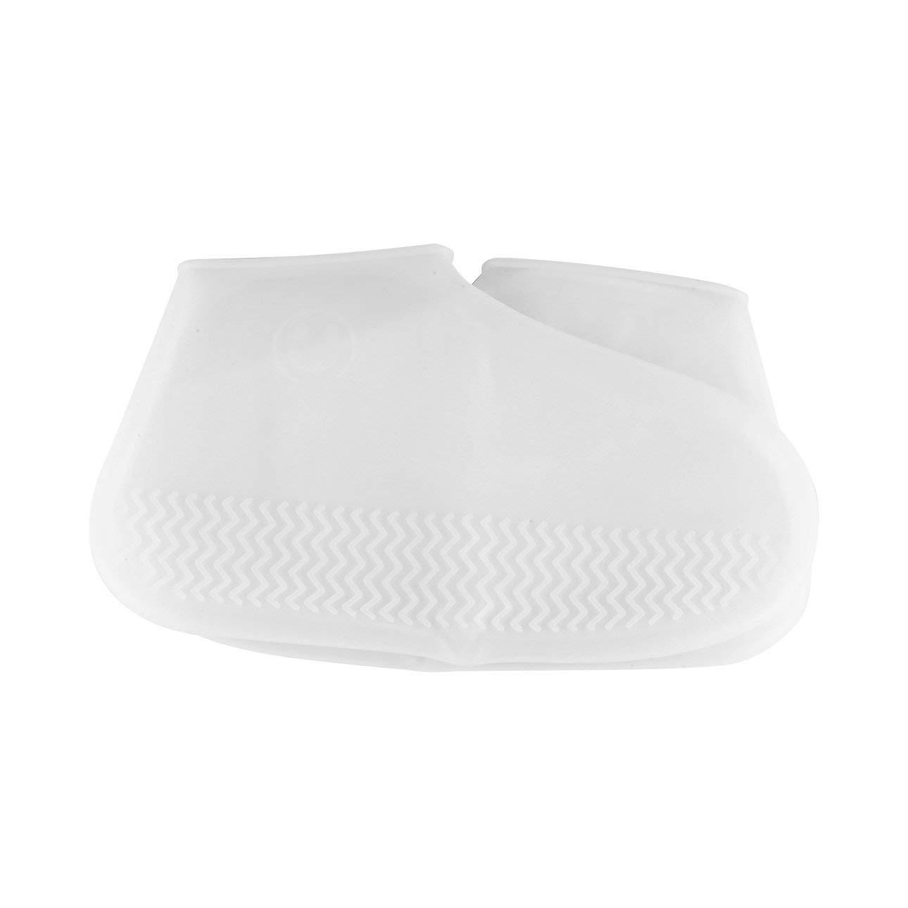 Ballylelly 1 par de l/átex Reutilizable Impermeable Cubrezapatos Cubrebotas de Goma Antideslizante Cubrebotas Cubrezapatos Accesorios