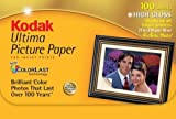 Kodak 8920647 Ultima Picture Paper, High Gloss (4x6, 100 Sheets)
