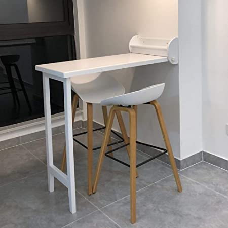 Zhirong Wall Mounted Drop Leaf Table Multifunction Folding The Dining Table Living Room Wall Mounted Bar Table 105 52 100cm Color White Amazon Co Uk Kitchen Home