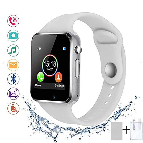 SUNETLINK Smart Watches, Anti-Lost Touch Screen Bluetooth Smart Watch with Camera,Cell Phone Watch with Sim Card Slot,Smart Wrist Watch Compatible...