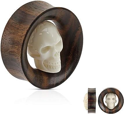 Covet Jewelry Sono Wood Saddle Fit Solid Organic Plug