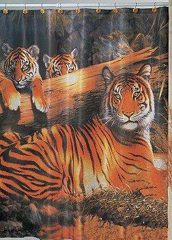 Quiet Fire Tiger Shower Curtain