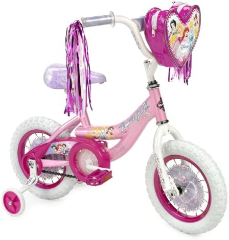Huffy Disney Princess 12 Bike w Handlebar Magic Mirror