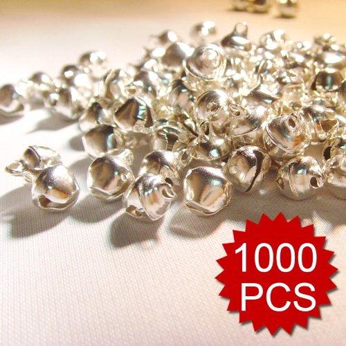 Aspire 1000PCS 10mm Silver Tone Bells Wholesale, DIY Party Favors