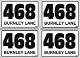 Wheelie Bin Number Stickers A6 size set of 4 bargain pric