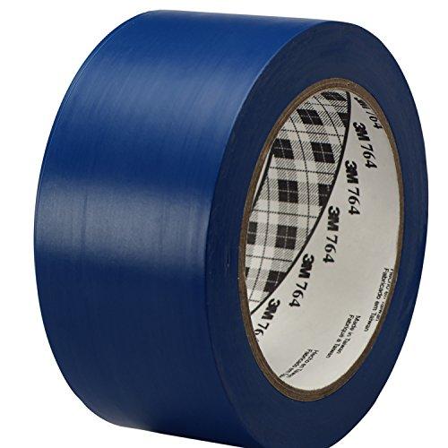 3M General Purpose Vinyl Tape 764 Blue, 2 in x 36 yd 5.0 mil (Pack of 1)