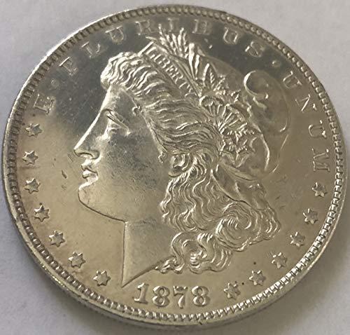 1878 P Silver Morgan Beautiful First Year of Morgan Proof Like Dollar MS-61 ()