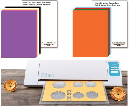 YummyInks ™ Brand: Silhouette Cameo Cutter Bundle with 20 ChromaSheets