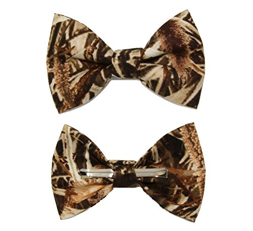 (Boys Duckweed Camouflage Clip On Cotton Bow Tie Bowtie by amy2004marie)
