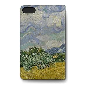 Leather Folio Phone Case For Apple iPhone 5S Leather Folio - Vincent Van Gogh Fine Art Painting Premium Cover