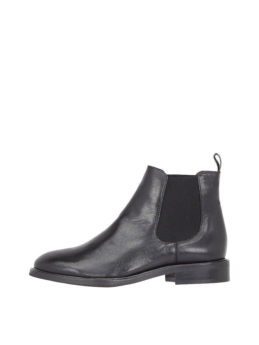 Noir (noir 100) Bianco Classic Leather Chelsea, bottes Femme