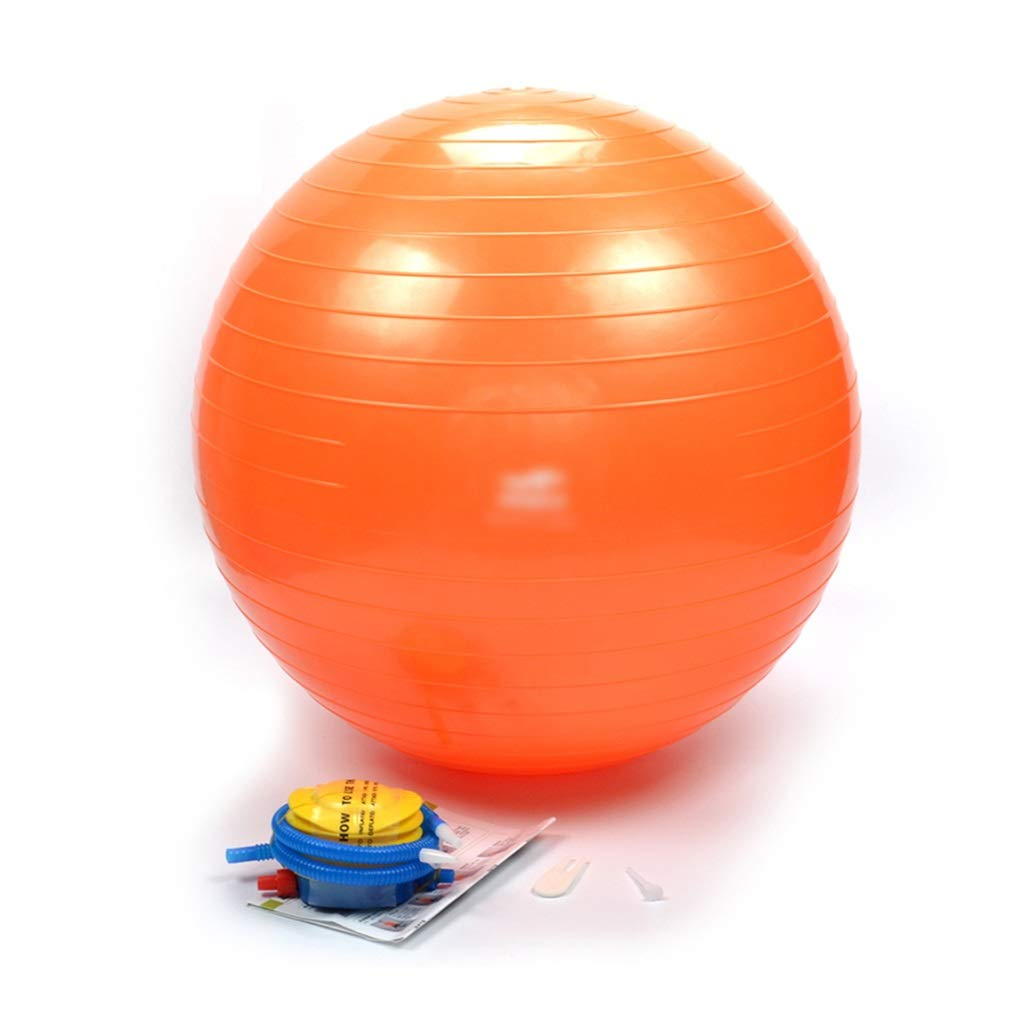 Sports Fitness Yoga Ball Beginner Thickening Explosion-Proof Fitness Ball Balance Ball Pilates Ball Ball Skin Thickening Explosion-Proof Safety (Load: 110kg) Exercise Ball Chairs