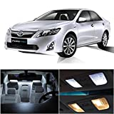 Toyota Camry w/ Sunroof 2007-2013 White LED Package Kits - Interior + Tag + Reverse Lights (12 Pieces)