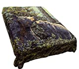 Sharon Comfort Korean Style Mink Blanket Ultra Soft and Cozy King Size 83''x 90'' Brown Bears