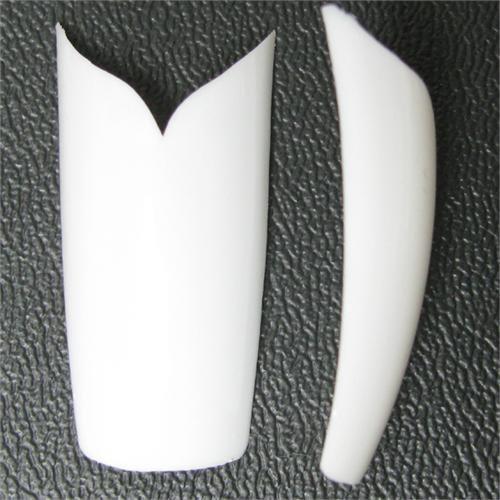 500 Pcs V Shape White Acrylic French Nail Art Tip