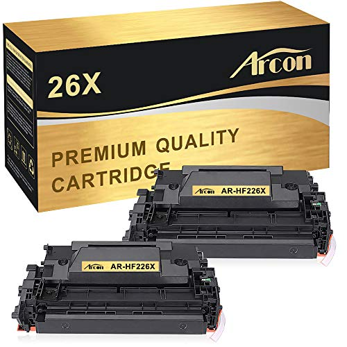 Arcon Compatible Toner Cartridge Replacement for HP 26X CF226X 26A CF226A HP M402n MFP M426fdw HP LaserJet Pro M402n M402dn M402dw M402d HP LaserJet Pro MFP M426dw M426fdw M426fdn Printer Ink-2 Packs ()