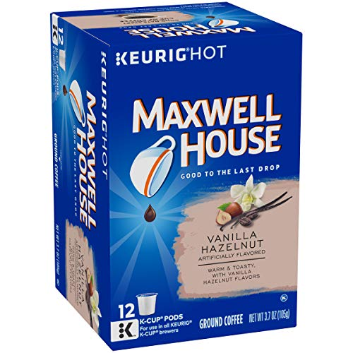 Maxwell House Vanilla Hazelnut Keurig K Cup Coffee Pods (72 Count, 6 Boxes of 12)