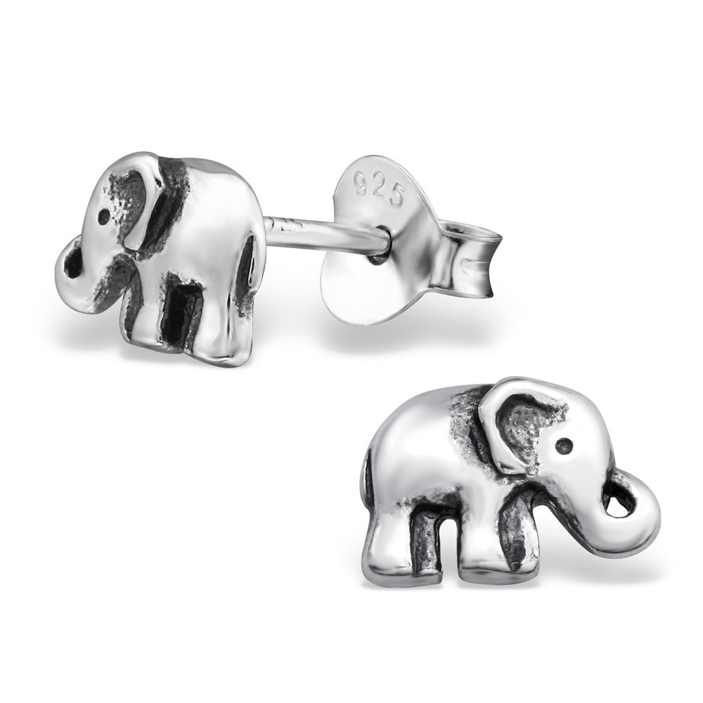 Hypoallergenic Elephant Stud Earrings for Girls (Nickel Free and Safe for Sensitive Ears)