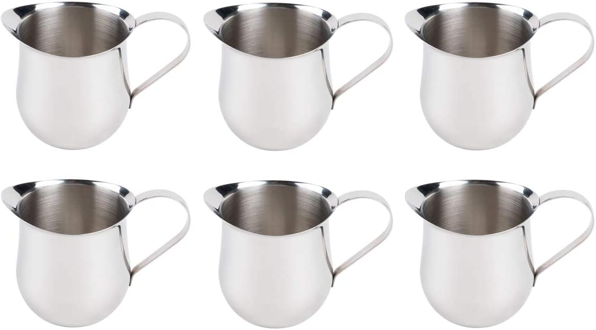5-Ounce Stainless Steel Bell Creamer Commercial Quality Bell Pitchers by Tezzorio 150 ml Coffee Creamer Pitcher//Bell-Shaped Serving Cream Pitcher