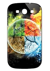 Case Fun Samsung Galaxy S3 (I9300) Case - Vogue Version - 3D Full Wrap - Four Elements of Earth