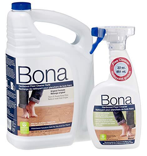 (Bona 160 oz. Hardwood Floor Cleaner Refill with 22 oz. Bonus Spray)