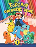 Pokemon Coloring Book Part 1: 48 Exclusive Illustrations with Pokemon's Names